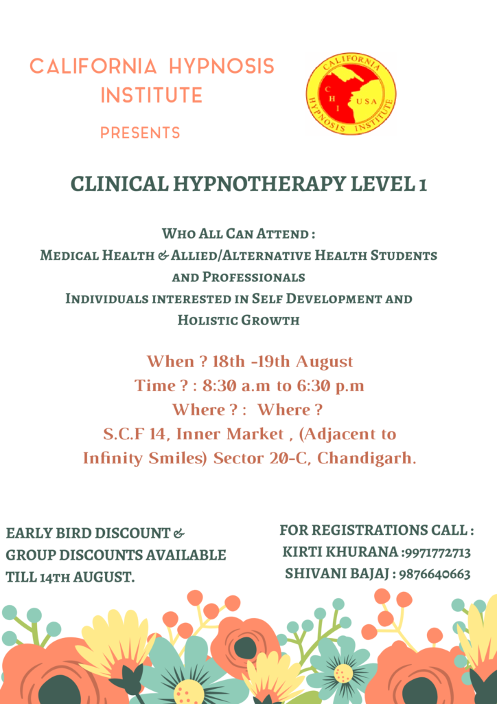 Clinical Hypnptherapy Level 1, Chandigarh